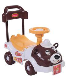 Babyhug Teddy Foot To Floor Ride-On - Brown Face