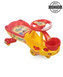 Babyhug Jungle Party Gyro Swing Car - Red