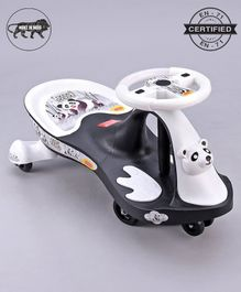 Babyhug Baby Panda Gyro Swing Car - Black & White