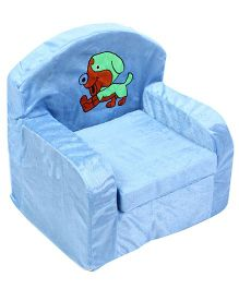 Luvely We Play Kids Sofa Chair Puppy Embroidery - Light Blue