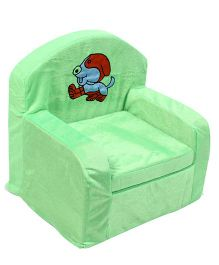 Luvely We Play Kids Sofa Chair Puppy Embroidery - Light Green