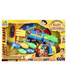 Chhota Bheem Soft Bullet Gun - Green & Blue
