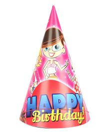 B Vishal Happy Birthday Theme Party Caps Pack Of 10 - Multi Color