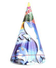 B Vishal Aquatic Birthday Theme Party Caps Pack Of 10 - Multi Color