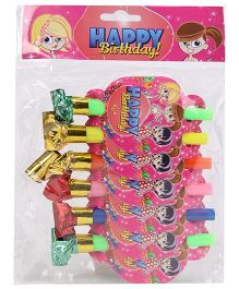 B Vishal Jungle Birthday Theme Blow Outs Pack Of 6 - Multi Color