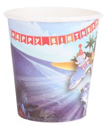 B Vishal Aquatic Birthday Theme Paper Cups Pack Of 10 - Multi Color