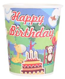 B Vishal Jungle Theme Paper Cups Pack Of 10 - Multi Color