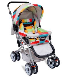 R for Rabbit The Colorful Pram Lollipop - Grey & Multicolor