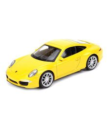 Welly Die Cast Free Wheel Porsche 911 Carrera S Car - Yellow