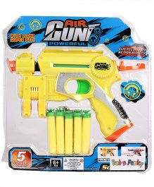 Air Gun With 5 Shells - Yellow