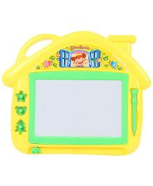 House Shape Magnetic Drawing Board With Pen- Yellow