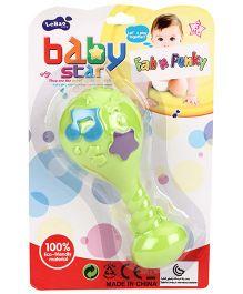 Baby Rattle Lollipop Shape - Green