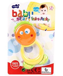 Baby Rattle Face Print - Yellow Orange