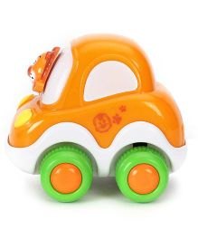 Racing Cartoon Car - White Orange