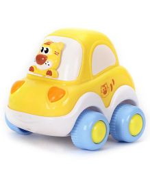 Racing Cartoon Car - White Yellow