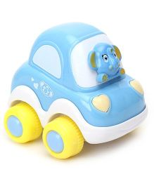 Racing Cartoon Car - White Blue