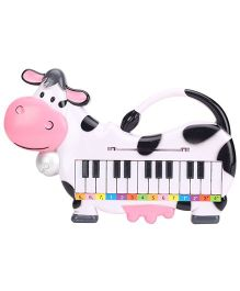 Cow Shape Musical Piano - White