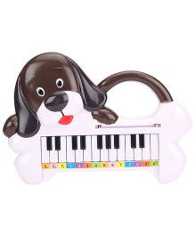 Puppy Shape Musical Piano - White