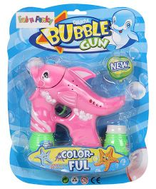 Dolphin Shape Bubble Gun - Pink Green