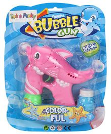 Dolphin Shape Bubble Gun - Pink Green Blue