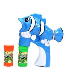 Fish Shape Bubble Gun - Blue