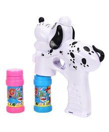 Puppy Shape Bubble Gun - White