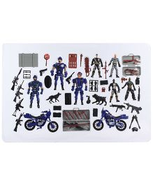 Police Force Action Team Play Set - Blue