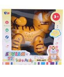 Elvish Tiger Shape Musical Toy - Orange