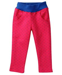 Little Kangaroos Pajama Dotted Print - Pink And Roal Blue