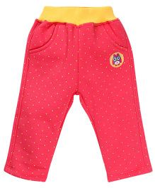 Little Kangaroos Full Length Leggings Dot Print - Pink