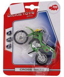 Dickie Freewheel Toy Cross Bike - Green