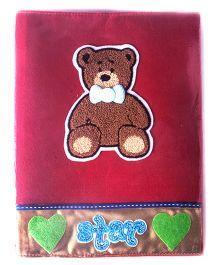 Teddy Bear A4 File Folder - Red