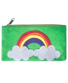 Rainbow Design Stationery Pouch - Green