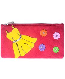 Dress Design Stationery Pouch - Red