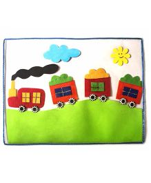 Train Table Mat - Multicolour