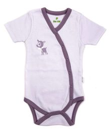 bio kid Half Sleeves Onesies - White Purple