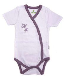 bio kid Half Sleeves Onesies - White Purple