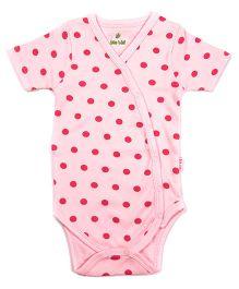 bio kid Half Sleeves Onesies Allover Print - Pink