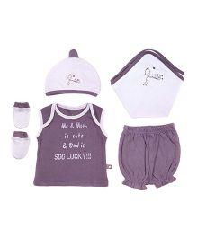Bio Kid Infant Clothing Gift Set Pack Of 5 - Purple