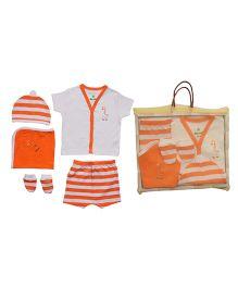 Bio Kid Infant Clothing Gift Set Pack Of 5 - Orange