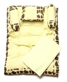 Bio Kid Infant Bed With Bolsters And Zero Wet Mat - Yellow