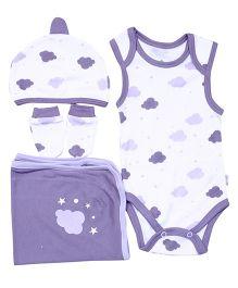 Bio Kid Infant Clothing Gift Set Pack Of 4 - Purple