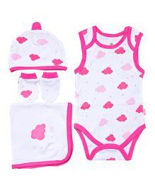 Bio Kid Infant Clothing Gift Set Pack Of 4 - Pink