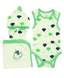 Bio Kid Infant Clothing Gift Set Pack Of 4 - Green