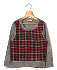 Beebay Check Sweater - Melange Grey
