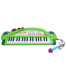 Electronics Keyboard With Microphone - Green