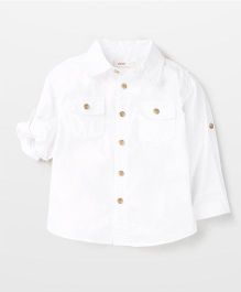 Fox Baby Solid Colour Shirt - White