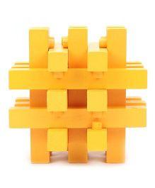 Hamleys Comdaq Wooden 3D Puzzle - Yellow