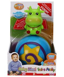 Cow Shape Roly Poly Musical Ball - Green Blue