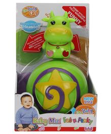 Cow Shape Roly Poly Musical Ball - Green